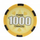 50pcs Matte Caracas Star Clay Poker Chips $1000 Yellow 14 Gram (Ship US Country Only) #11031x50#