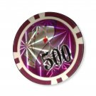 50pcs Hi Roller Poker Chips $500 Purple 14 Gram (Ship US Country Only) #15407x50#