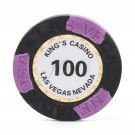 50pcs Kings Casino Las Vegas Nevada Clay Poker Chip $100 Black 14g (Ship US Country Only)#14485x50#