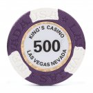 50pcs Kings Casino Las Vegas Nevada Clay Poker Chip $500 Purple 14g (Ship US Country Only)#14486x50#