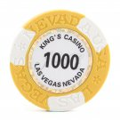 50pc Kings Casino Las Vegas Nevada Clay Poker Chip $1000 Yellow 14g (Ship US Country Only)#14487x50#