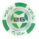 50x Matte Star Clay Poker Chips $25 Green 14 Gram (Ship US Country Only) #10998x50#