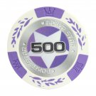 50 Matte Star Clay Poker Chips $500 Purple 14 Gram (Ship US Country Only) #11000x50#