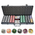 500 Casino Table Hi Roller Poker Chips Set (Ship US Country Only)#15354#