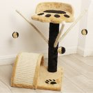 Cat Tree Pet Condo Furniture Scratcher Post Pole Toy Bed Tower House Beige(Ship US Only) SF-16842{4}