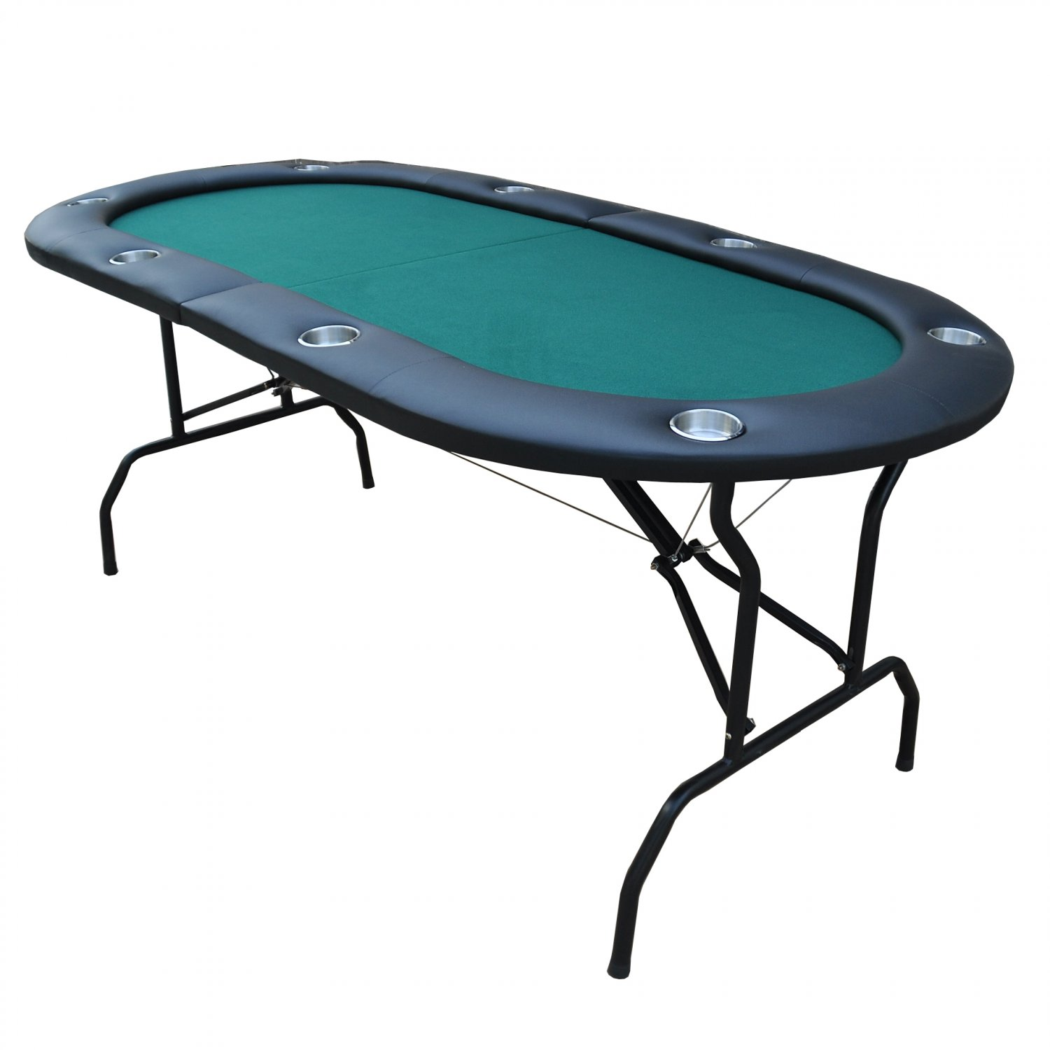"""73"""" 8 Player Foldable Poker Table Casino Texas Holdem Green Ver.2 (Ship US Country Only)#16361-G#"""