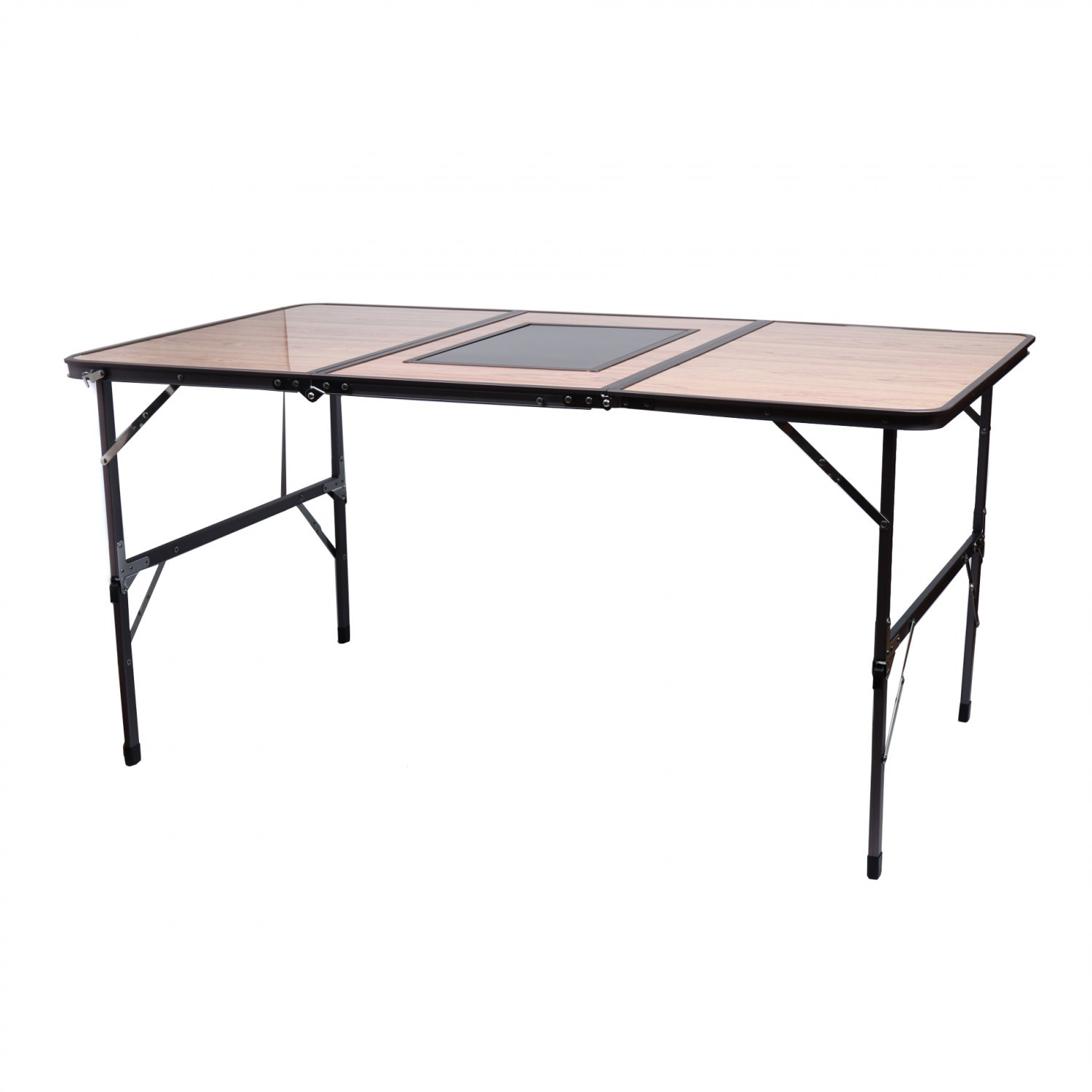 Garden Yard Outdoor Sturdy Portable 3 Side BBQ Folding Table(Ship US Only)SK-17140{4}