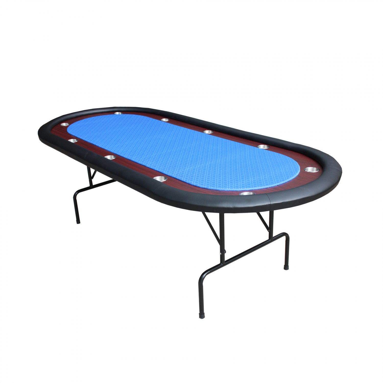 10 players 96 texas holdem interchangeable top folding leg for 10 player poker table top