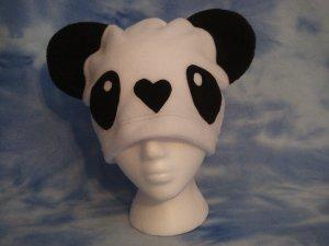 White Fleece Panda Hat Kawaii Cosplay Bear