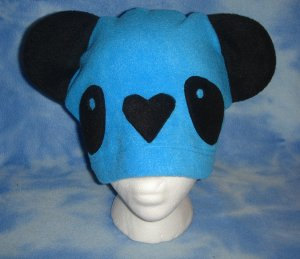 Blue Fleece Panda Hat Kawaii Cosplay Bear