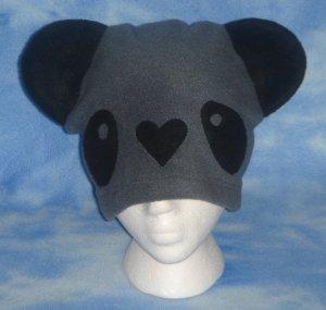 Grey Fleece Panda Hat Kawaii Cosplay Bear