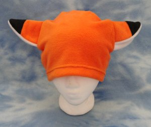 Orange Fox Hat Fleece Anime Cosplay Animal Furry Ears