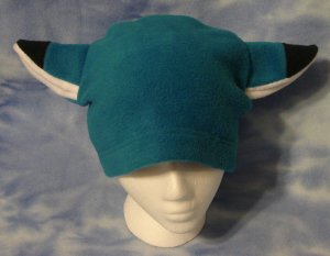 Blue Fox Hat Fleece Anime Cosplay Animal Furry Ears