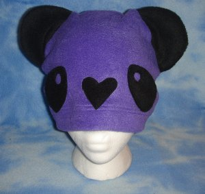Purple Fleece Panda Hat Kawaii Cosplay Bear