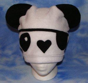 White Pirate Panda Hat Kawaii Cosplay Bear