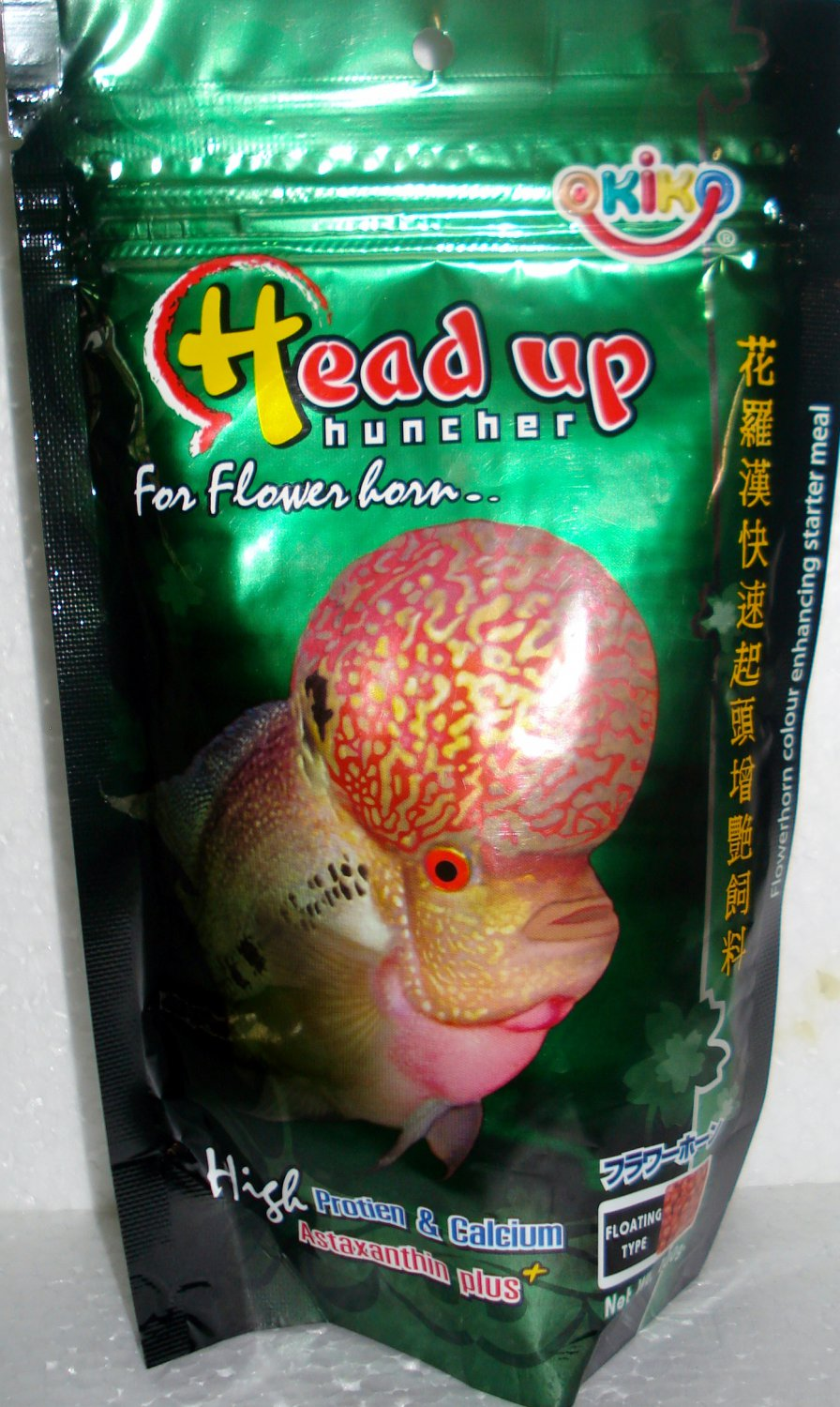 OKIKO - HEAD UP FLOWERHORN FISH FOOD 500g Satchet