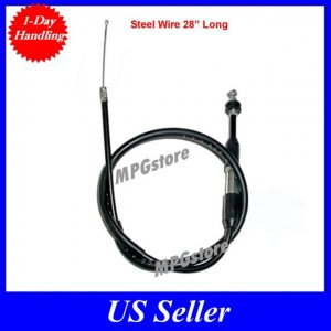 "Throttle Cable 50 70 90 110cc ATV 28"" Steel Wire Long TaoTao SunL Kazuma Roketa"
