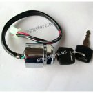 "Ignition Switch 2 Keys 2 Positions 24mm Cylinder 4 Wire 10"" L for ATV Dirt Bike"