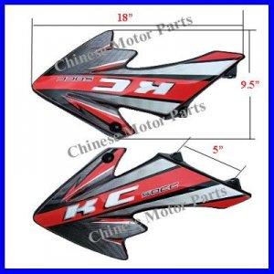 Tank Shrouds Fenders Honda XR50 CRF50 KC50-110 Bike Blk