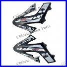 Front Side Fender, KCZ 110cc Dirt Bike, Black, LH & RH