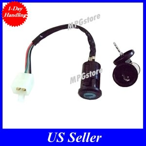 Ignition Switch Key 4 wire 50cc 70cc 90cc 110cc 125 ATV