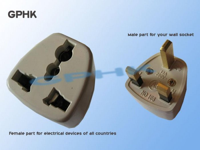 Universal AC Travel Adapter for UK Plug Socket