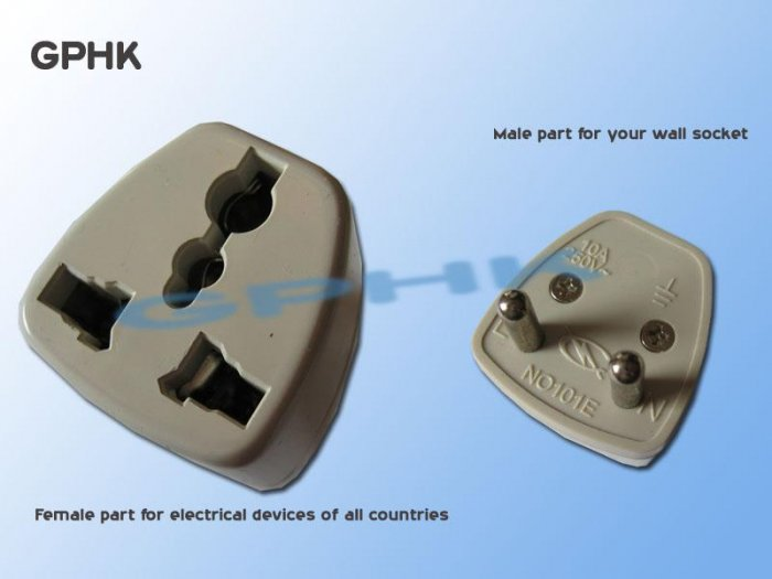 Universal AC Travel Adapter for Germany Plug Socket