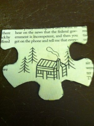 Handmade Cottage Puzzle Pendant