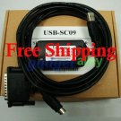 USB to RS422 SC-09 Cable for Mitsubishi PLC Melsec FX A SC09