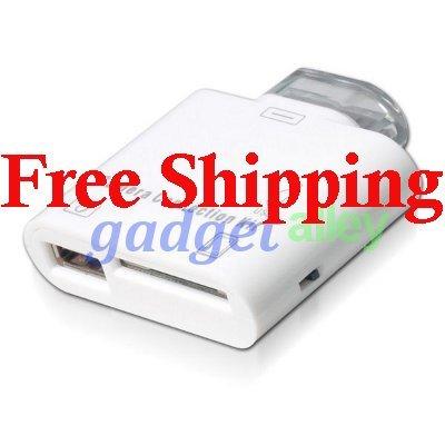 fit Apple iPad 2 USB Keyboad SD Card Reader Camera Connection Kit