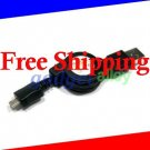 Retractable USB Data charge Cable for Samsung I9100 Galaxy S II AT&T Skyrocket SGH-I777 SGH-I727