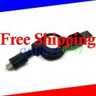 Retractable Micro USB Data Sync charging Cable for Samsung Galaxy W (Galaxy S II Mini)