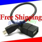 for HTC OID Incredible 4G LTE Desire C Velocity Micro USB OTG Host Adapter Cable Connection Kit