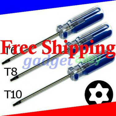 Security Tamper Proof Torx T6 T8 T10 Screwdriver Set for XBOX 360 Controller Console Disassembly