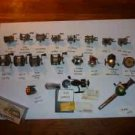 ++FISHING REEL COLLECTION++VINTAGE REELS (PENN/MITCHEL G/PFLUEGER/SHAKESPEARE AND MORE