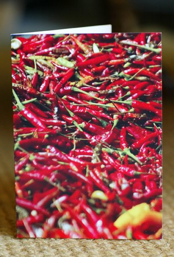 Hot Chili Pepper Card