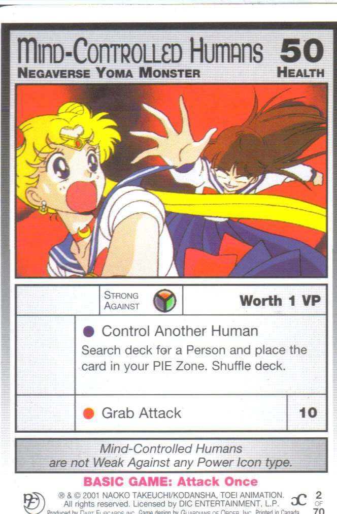 Sailor Moon Past & Future CCG Mind-Controlled Humans Negaverse Yoma Monster #2