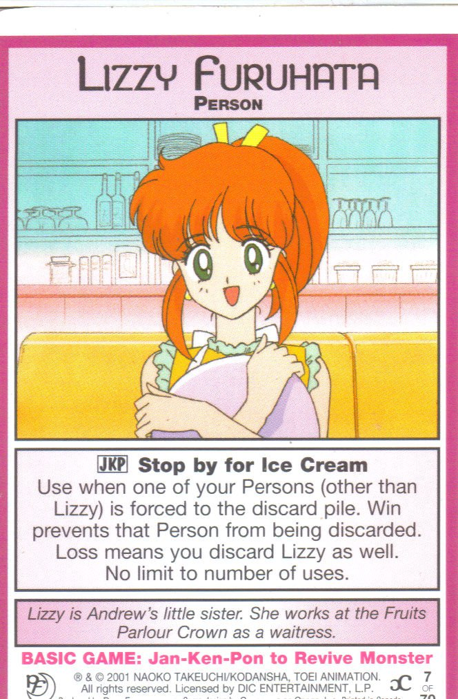 Sailor Moon Past & Future CCG Lizzy Furuhata Person #7