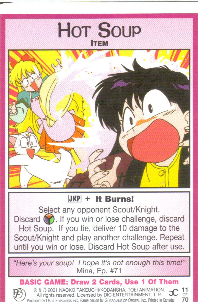 Sailor Moon Past & Future CCG Hot Soup Item #11