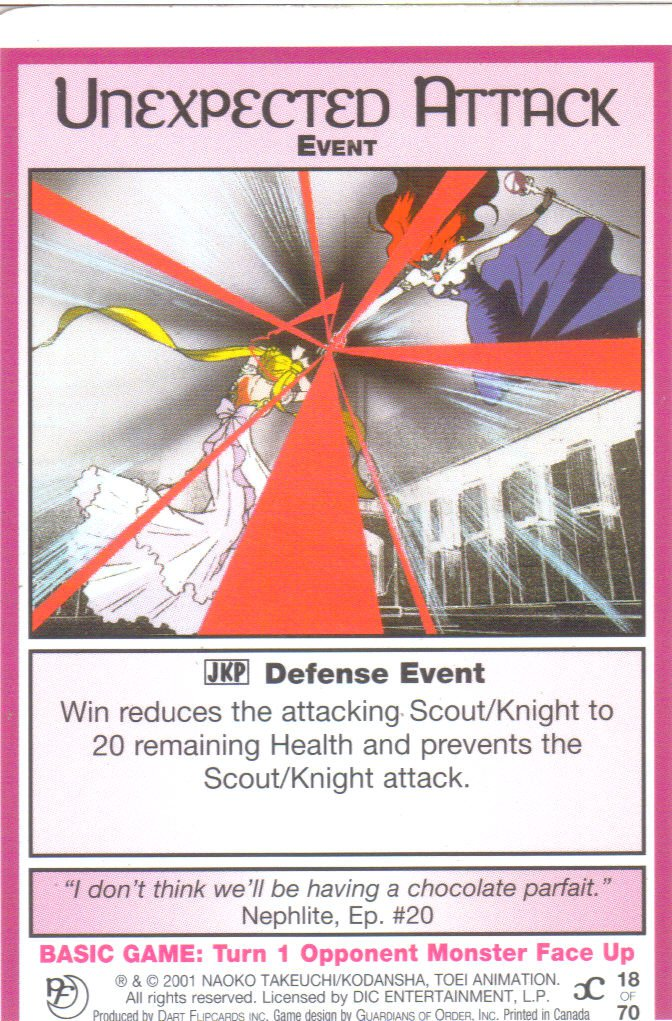 Sailor Moon Past & Future CCG Unexpected Attack Event #18