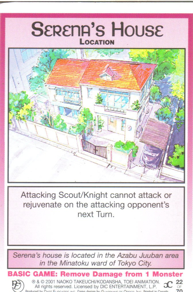 Sailor Moon Past & Future CCG Serena's House Location #22