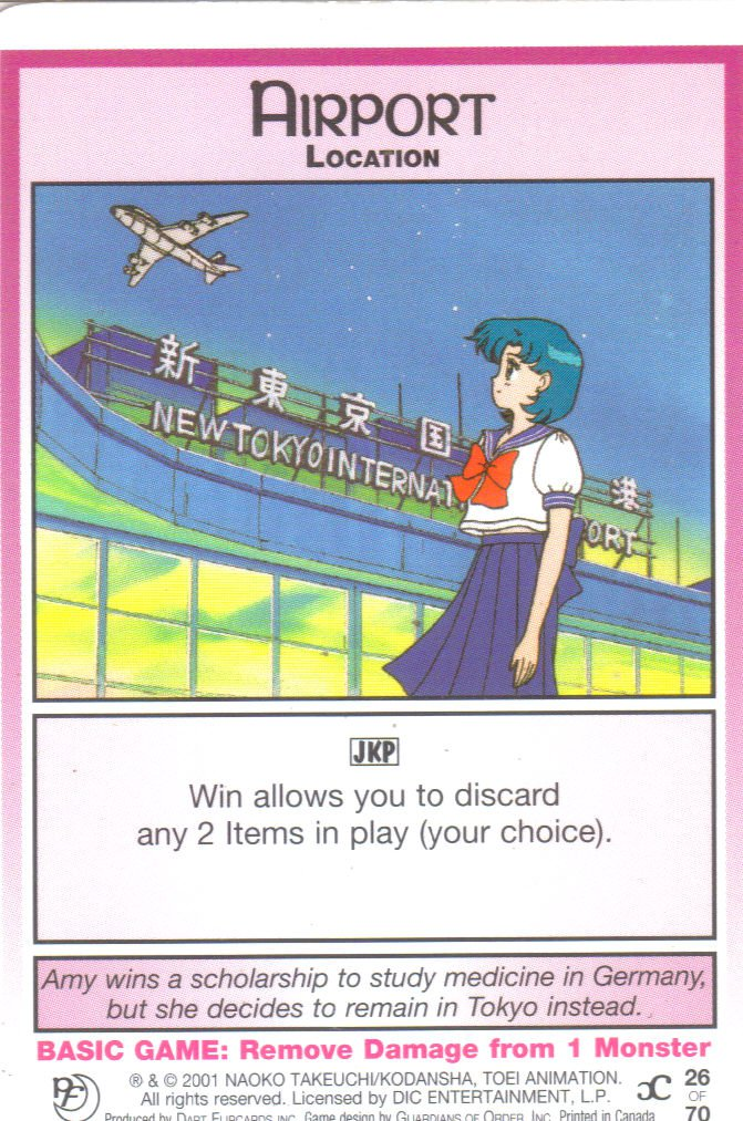 Sailor Moon Past & Future CCG airport Location #26