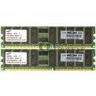 HP 1GB (2x 512MB) PC2100 CL2.5 ECC 184-pin DIMM Memory Module 261584-041 Samsung