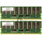 Nanya 1GB 2x512MB PC1600 ECC Reg 184-pin DIMM Memory Module NT512D72S4PAKGR-8B