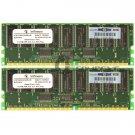 Infineon 1GB 2x512MB PC1600 ECC Reg 184-pin Memory HYS72D64000GR-8-B 175918-042