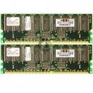 Samsung 1GB 2x512MB PC1600 ECC Reg 184-pin DIMM Memory M383L6420DTS-CA0Q0