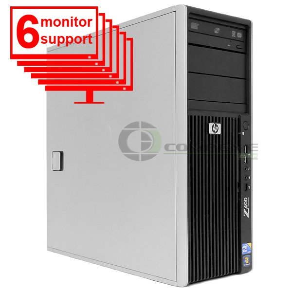6 Monitor Trading PC HP Z400 Workstation Xeon W3505 2.53Ghz 6GB 250GB Win 7 Pro