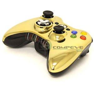 Microsoft XBOX 360 Wireless Controller Chrome Gold Series Star Wars C3PO Gamepad
