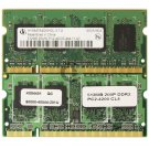 1GB (2x 512MB) PC2-4200 DDR2-533MHz CL4 200-pin SoDimm Memory Mobile