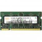 Hynix 512MB PC2-5300 SODIMM 200-Pin Non-ECC Laptop Memory RAM HYMP564S64BP6-Y5